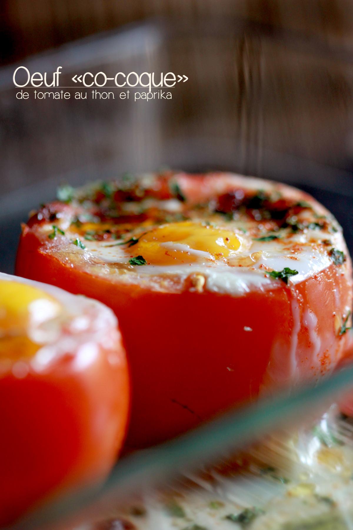 L oeuf co coque de tomate au thon et paprika chachou 39 s kitchen - Oeuf a la coque sans coquetier ...