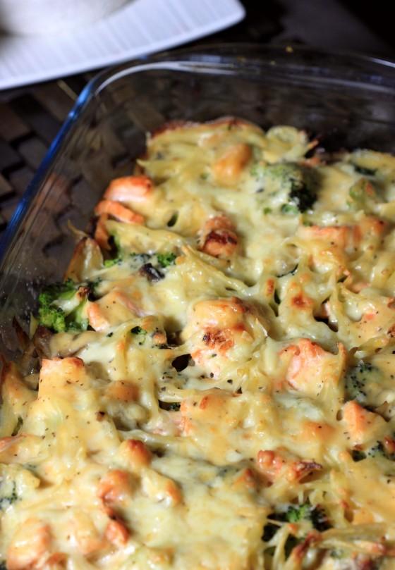 Gratin brocolis saumon (1)