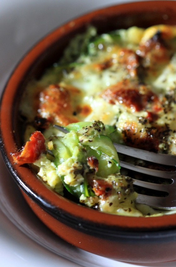 Gratin courgettes, tomates et mozza (3)